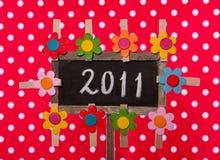 2011 geschreven op een bord Stock Foto's