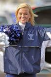 2011 gioco del calcio del NCAA - ragazza pon pon Fotografie Stock Libere da Diritti