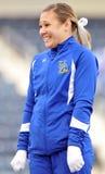 2011 gioco del calcio del NCAA - ragazza pon pon Fotografia Stock Libera da Diritti