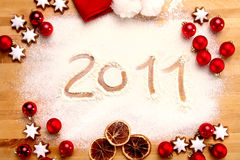 2011 glada jul Fotografering för Bildbyråer