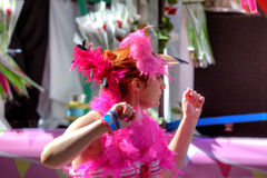 2011 glada manchester ståtar stolthet uk Arkivfoto