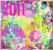 2011 graphic design background composition. 2011 new year graphic design background composition shapes and colors Royalty Free Stock Photography