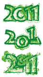 2011 green logo Royalty Free Stock Images