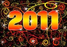 2011 grunge pocztówki spirala Zdjęcia Royalty Free