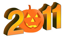 2011 halloween text and design. Illustration Royalty Free Stock Images