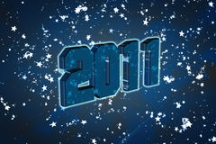 2011 Happy New Year. Greeting card or background Royalty Free Stock Image