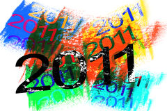 2011 Happy New Year. 2011 new year on colorful abstract background Stock Images