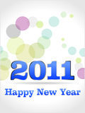 2011 HAPPY NEW YEAR. Happy new year 2011, illustration Stock Photography