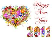 2011 happy new year illustration Stock Photo
