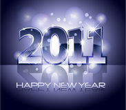 2011 happy new year illustration Stock Image