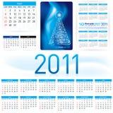 2011 het Malplaatje van de Kalender Stock Fotografie