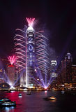2011 het Vuurwerk van de aftelprocedure toont in Hongkong Royalty-vrije Stock Foto's