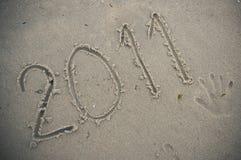 2011 im Sand Stockfoto