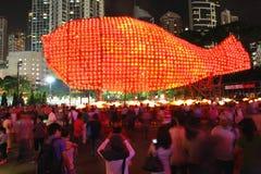 2011 jesień festiwalu Hong kong w połowie zdjęcia royalty free