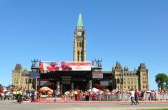 2011 jour du Canada en côte du Parlement, Ottawa Photos stock