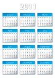 2011 kalendar 库存照片