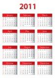 2011 kalendar 免版税库存图片