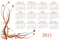 2011 kalendarz Zdjęcia Royalty Free