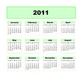2011 kalendarz ilustracja wektor