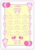 2011 kalendarz folował rok ilustracja wektor
