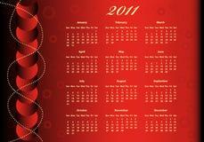 2011 kalendarz folujący rok royalty ilustracja