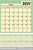 2011 kalendarza wektor Zdjęcie Stock