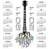 2011 kalendarzowa gitara Zdjęcie Stock