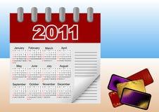 2011 kalendarzowy ikony ilustraci wektor Obrazy Stock