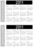 2011 kalendarzowy prosty Obraz Royalty Free