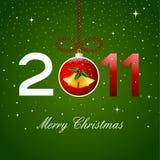 2011 karciany boże narodzenie Obraz Royalty Free