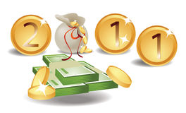 2011 karciany pieniądze Zdjęcie Stock