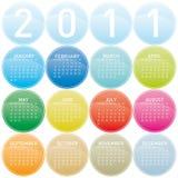 2011 Kleurrijke Kalender Royalty-vrije Stock Foto's