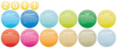 2011 Kleurrijke Kalender Stock Foto