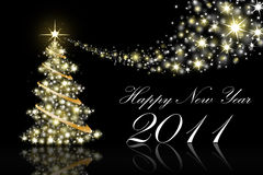 2011 kort som greeting nytt år Arkivfoto