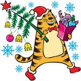 2011 kota bożych narodzeń nowy s drzewa rok Zdjęcia Royalty Free