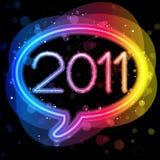 2011 Lights Speech Bubble Stock Image