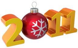 2011 lyckliga höga nya res-år stock illustrationer