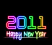 2011 lyckliga nya år för laser-lampa Arkivfoton