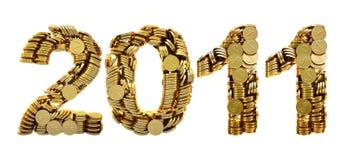 2011 Münzen stock abbildung
