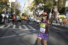 2011 maratón de New York City - Manhattan Fotografía de archivo