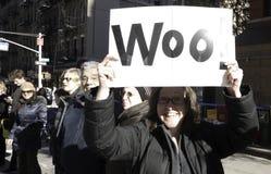 2011 maratona de New York City - sinal engraçado Imagem de Stock