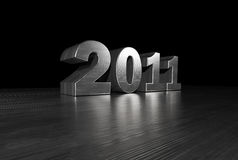 2011 Metal Font Stock Photos