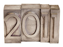 2011 - metal printing blocks Stock Image