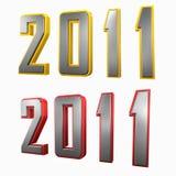 2011 mit Rand Lizenzfreies Stockfoto