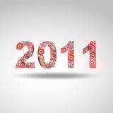2011 mit roten Leuchten Stockfotografie
