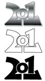 2011 modern logo Royalty Free Stock Images