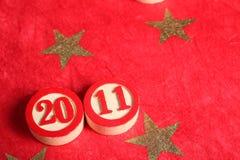 2011 - números del bingo Foto de archivo libre de regalías