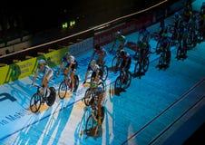 2011 nätter rikt sixday z för cykelchallengendoor royaltyfria bilder