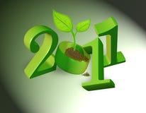 2011 naturalni tło zielonych Obraz Royalty Free