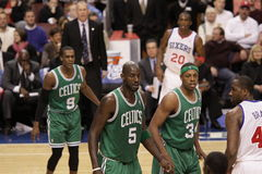 2011 NBA All Star Kevin Garnett & Paul Pierce Royalty Free Stock Photos
